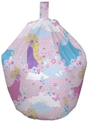 Disney Princess Beanbag and Canvas Art Set