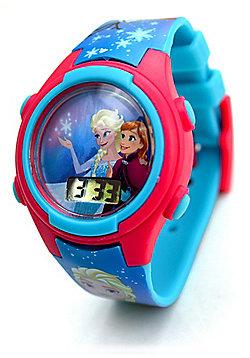 Disney Frozen Anna & Elsa 'Digital Metal Tin Gift' Wrist Watch