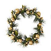Gold Glitter Fruit Christmas Wreath