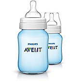 Philips Avent Classic+ Anti-Colic Bottle Twin Pack - Blue 260ml/9oz SCF565/27
