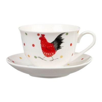Alex Clark Rooster Stratford Teacup and Saucer 0.24L