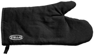 Stellar Quilted Oven Mitt Gauntlet Glove in Black