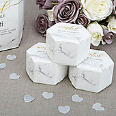 Scripted Marble Wedding Tissue Confetti