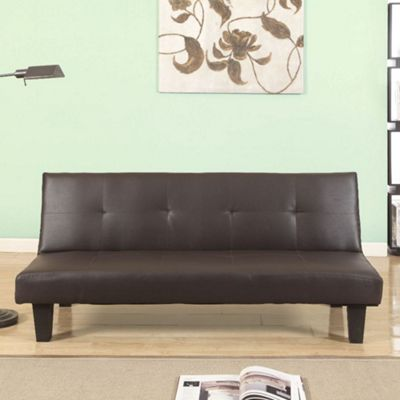 Happy Beds Franklin Faux Leather Sofa Bed - Brown