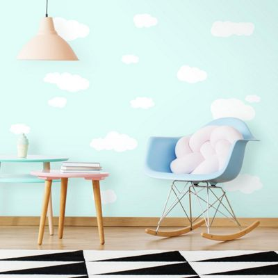Baby Wall Stickers, Childrens Wall Stickers - White Clouds
