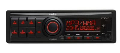CLARION FZ 102E Single DIN FM Car Radio Direct iPod Front USB 3.5 AUX Headunit