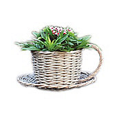 Kingfisher Wicker Coffee Cup Basket