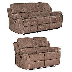 Sofa Collection Constance 3+2 Recliner Sofas - Dark Brown