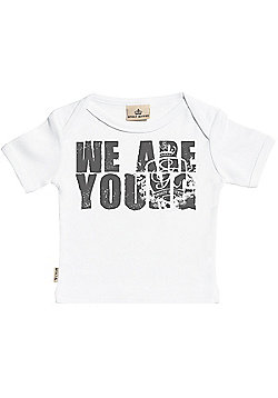We Are Young Short Sleeve Baby T-Shirt - Baby T Shirt Gift - White