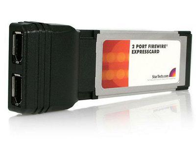 StarTech 2 Port ExpressCard 1394a FireWire Laptop Adapter Card