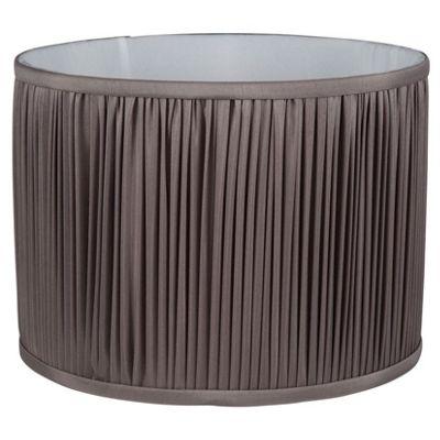 40cm Faux Silk Grey Mushroom Pleat Cylinder Shade