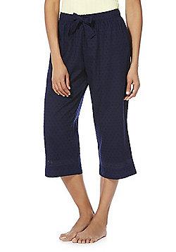 F&F Dobby Spot Cropped Lounge Pants - Navy