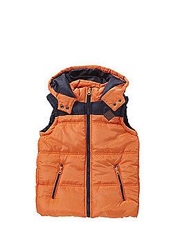 Minoti Padded Hooded Gilet - Orange
