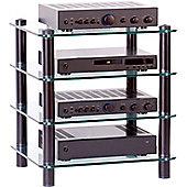 Optimum Prelude Slimline Four Shelf Hifi Stand