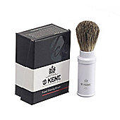 Kent Gloss White Aluminium Travel Shaving Brush