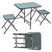 Palm Springs Folding Picnic Set W/ Table & Seats White