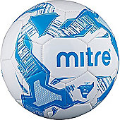 Mitre Balon Recreational Training Football Soccer Ball White/Blue - 5