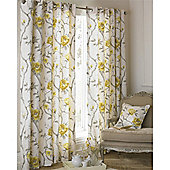Riva Home Rosemoor Eyelet Curtains - Ochre