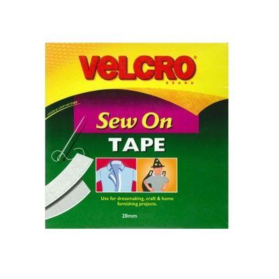 Velcro Sew-On Tape 25m x 20mm White