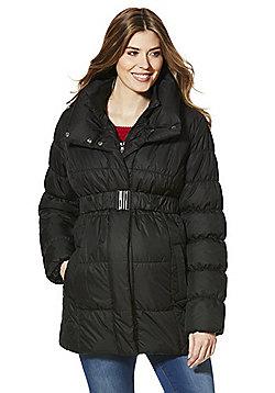 Mamalicious Padded Maternity Coat - Black