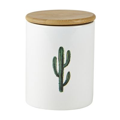 KJ Collection Cactus Storage Pot, Tall Cactus