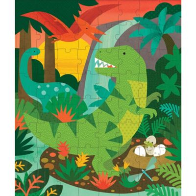 Petit Collage Dinosaur 64-Piece Tin Canister Puzzle