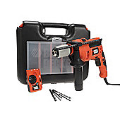 Black and Decker CD714EDSK Impact Hammer Drill 710 Watt 240 Volt With Free Detector