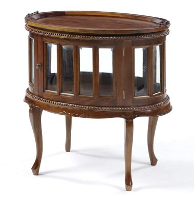Buy Anderson Bradshaw Victorian Oval Drinks Cabinet In Mahogany From Our Coffee Tables Range Tesco