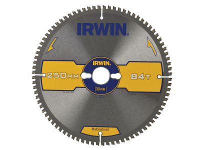 Irwin Multi Material Circular Saw Blade 250 x 30mm x 84T TCG/Neg