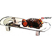 Alpina Professional Stainless Steel 4 Flames Tea Light Warme Hot Plate