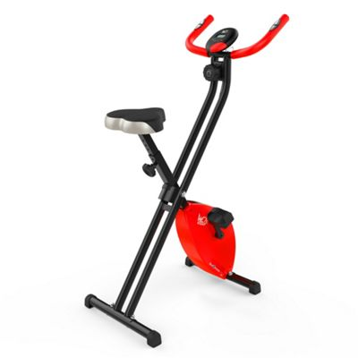 RevXtreme X-Bike Folding Magnetic Exercise Bike Indoor Cycle Red