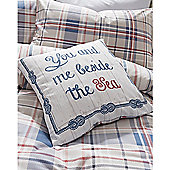 Dreams n Drapes Rathmoore Blue Cushion Cover - 43x43cm