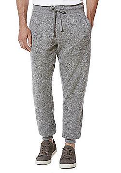 F&F Textured Marl Slim Fit Cuffed Joggers - Grey