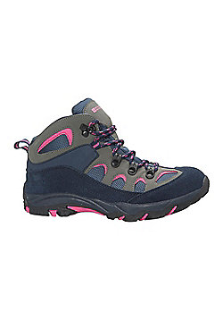 Mountain Warehouse Boys Durable Boots with Mesh Upper and Hardwearing Outsole - Blue