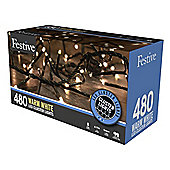 Festive Multi-Action Cluster Christmas Lights 480 Warm White