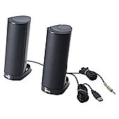 Dell AX210CR 2.0 Speaker System - 1.2 W RMS - Desktop - Black