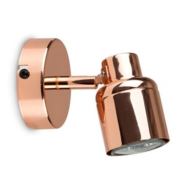Modern Benton Adjustable Wall Spotlight Copper