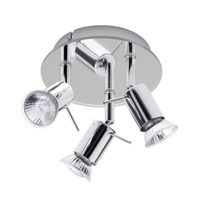 Litecraft Olaf mirrored ceiling 3 light spotlight