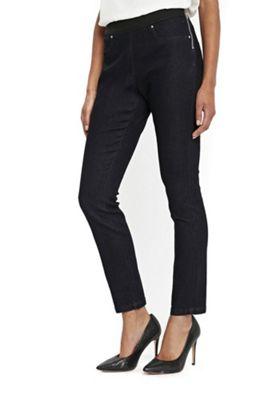 Wallis Demi Side Zip Jeans 12 Indigo