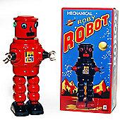 Retro Tin Collectable Ornament - Red