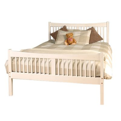 Comfy Living 4ft6 Double Farmhouse JD shaker in White with Sprung Mattress