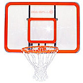 BEE BALL ZY-022 NBA Size Basketball Backboard with Reinforced Perspex & Flex Ring Inc Wall Mounting Bracket & Fixing Kit