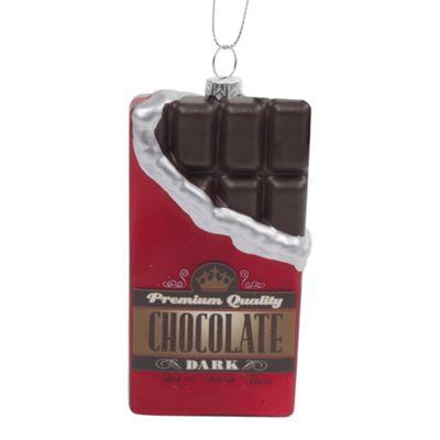 Chocolate Bar Hanging Glass Christmas Tree Bauble Decoration