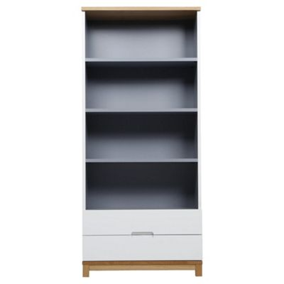 Oslo Tall Storage Unit   2 Drawer, Grey U0026 White
