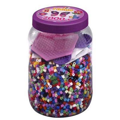 Purple Tub - 7000 Beads With Pegboard - Beads - Hama