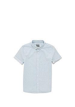 F&F Geo Print Short Sleeve Shirt - Blue/White