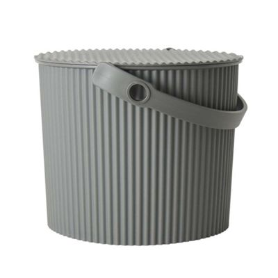Hachiman Omnioutil Storage Bucket & Lid Small Dark Grey