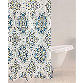 Sabichi Sintra Tile Polyester Shower Curtain
