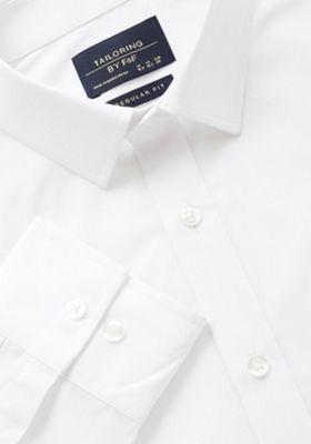 F&F Easy Care Regular Fit Shirt 14.5 White