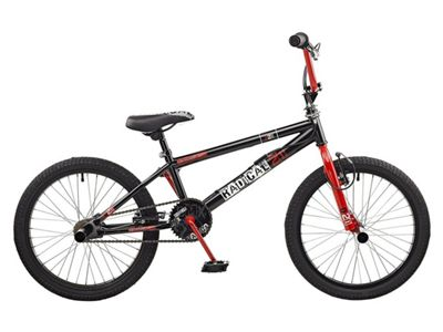 Rooster Radical 20 BMX Bike Black/Red with Spoke Wheels